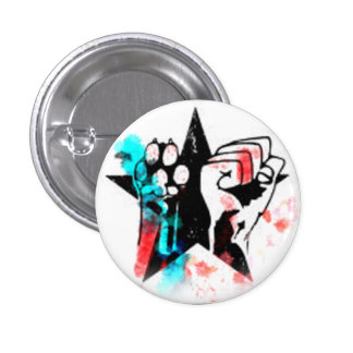 Colorful animal rights badge 1 inch round button
