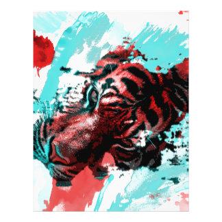 Colorful Animal Tiger Flyer