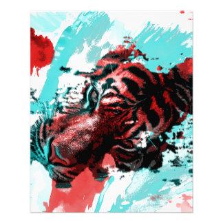 Colorful Animal Tiger Flyer Design