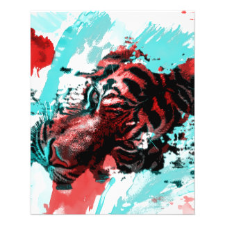 Colorful Animal Tiger Flyers