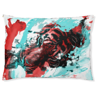 Colorful Animal Tiger Large Dog Bed