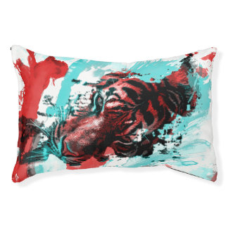 Colorful Animal Tiger Small Dog Bed