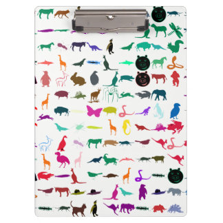 Colorful Animals Pattern #3 Clipboard