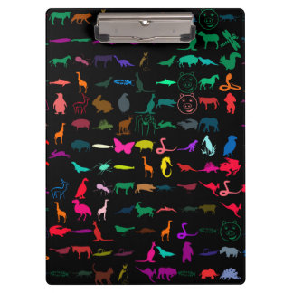 Colorful Animals Pattern Clipboards