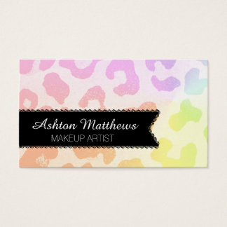 Colorful Animals Print Business Cards -Personalize