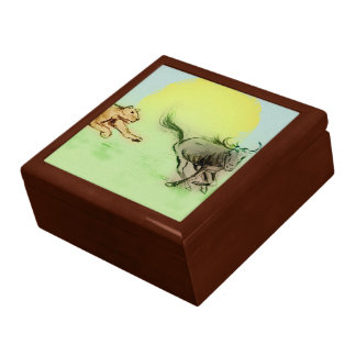 Colorful animals sketch tile gift box - Chase