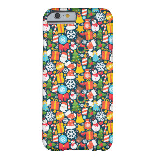 Colorful animated christmas character icon pattern barely there iPhone 6 case