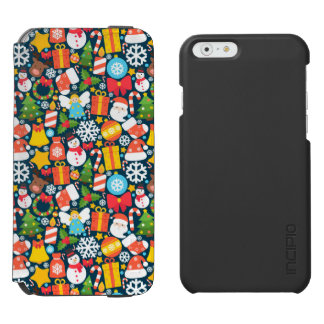 Colorful animated christmas character icon pattern incipio watson™ iPhone 6 wallet case