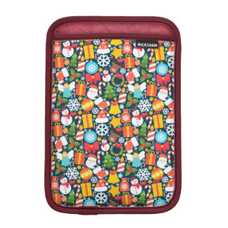 Colorful animated christmas character icon pattern iPad mini sleeve