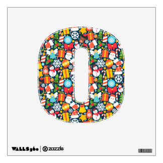 Colorful animated christmas character icon pattern wall sticker