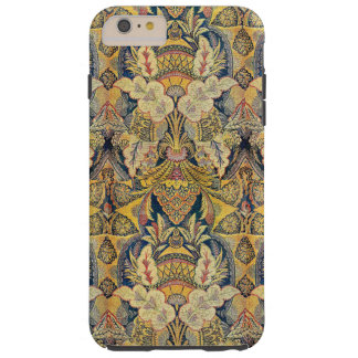 Colorful Antique Faux Tapestry Floral Pattern Tough iPhone 6 Plus Case