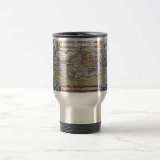 Colorful Antique Vintage World Map Ortelius Travel Mug