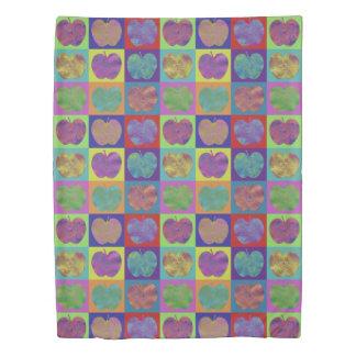 Colorful Apple Pattern Pop Art Duvet Cover
