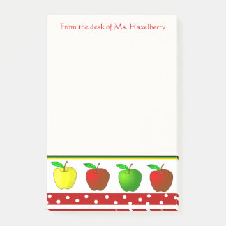 Colorful Apples Teachers Personalized Note Pad