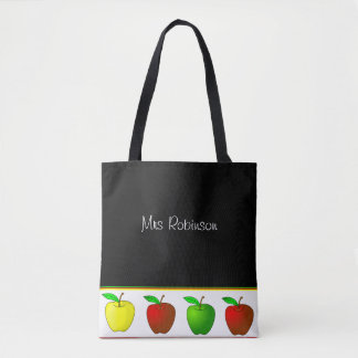 Colorful Apples Teachers Tote Bag