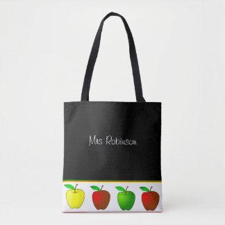 Colorful Apples Teachers Tote Bag