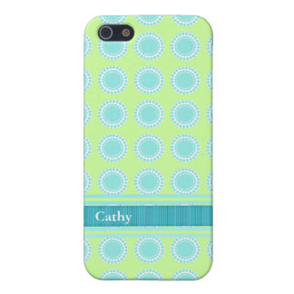 Colorful Aquamarine & Chartreuse iPhone 5 Case