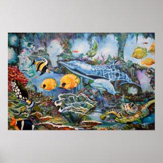 Colorful Aquarium Poster