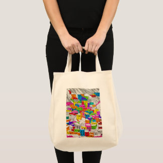 Colorful Architectural Sketch Tote Bag