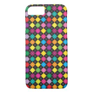 Colorful Argyle Pattern (Black & White)- iPhone 7 iPhone 7 Case