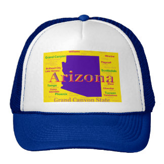 Colorful Arizona State Pride Map Trucker Hat