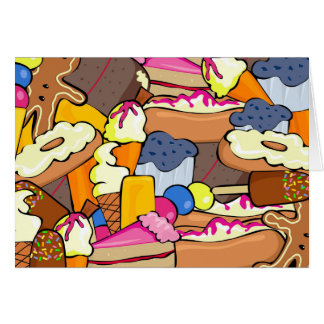 Colorful array of Sweets Card