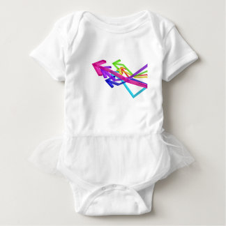 Colorful arrows baby bodysuit