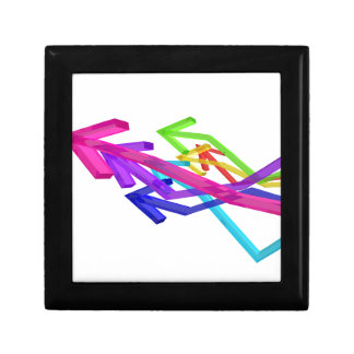 Colorful arrows gift box