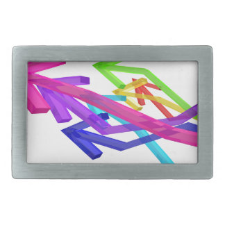 Colorful arrows rectangular belt buckle