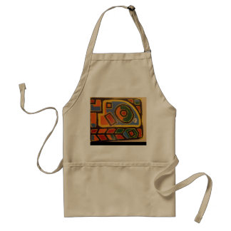 Colorful art apron to brighten your kitchen