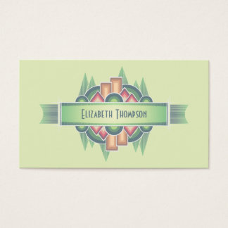 Colorful Art Deco Event Planner Business Card