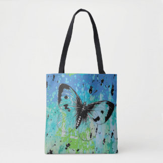 Colorful Artistic Butterfly Tote Bag