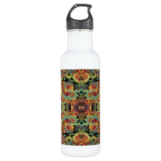 Colorful artistic drawn paisley pattern 710 ml water bottle