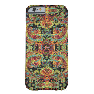 Colorful artistic drawn paisley pattern barely there iPhone 6 case