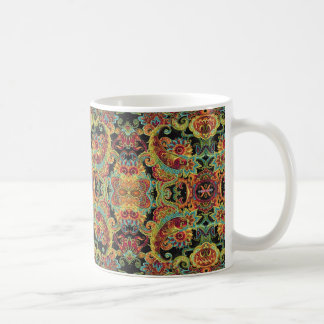 Colorful artistic drawn paisley pattern coffee mug