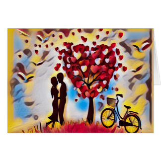 Colorful Artistic Love Quote Card