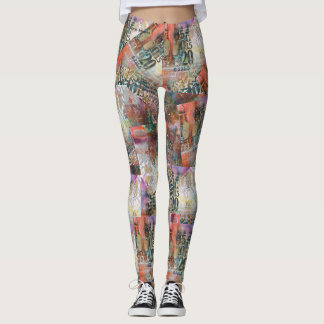 Colorful artsy leggings that go with everything