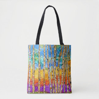 Colorful Aspen Trees Tote Bag