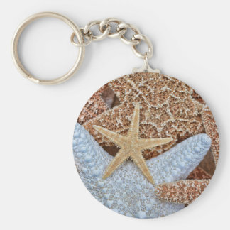 Colorful Assortment of Starfish Keychain