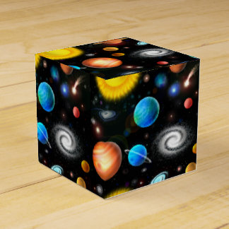 Colorful Astronomy Space Favor Box