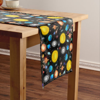 Colorful Astronomy Space Table Runner