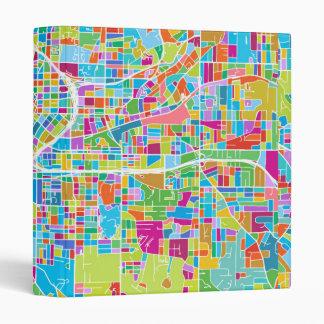 Colorful Atlanta Map 3 Ring Binder