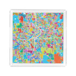 Colorful Atlanta Map Acrylic Tray
