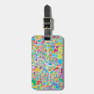 Colorful Atlanta Map Bag Tag