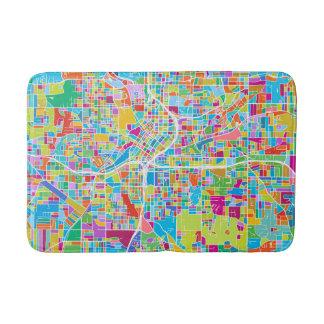 Colorful Atlanta Map Bath Mat