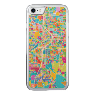 Colorful Atlanta Map Carved iPhone 8/7 Case