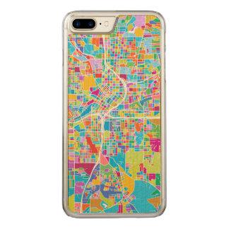 Colorful Atlanta Map Carved iPhone 8 Plus/7 Plus Case