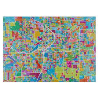Colorful Atlanta Map Cutting Board