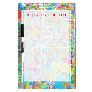 Colorful Atlanta Map Dry Erase Board