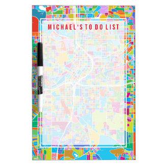 Colorful Atlanta Map Dry-Erase Whiteboards